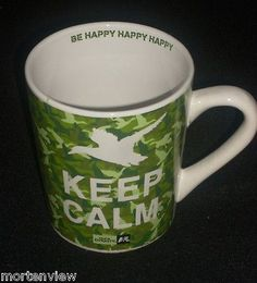 NEW-DUCK-DYNASTY-A-E-KEEP-CALM-BE-HAPPY-GREEN-CAMOUFLAGE-LARGE-COFFEE-MUG-23OZ