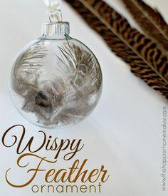 Wispy Feather Orname