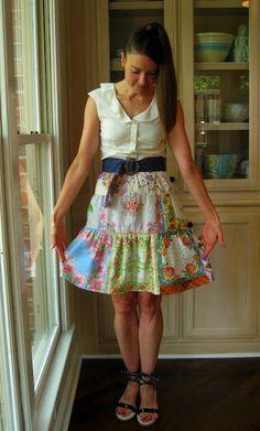 vintage hankie skirt