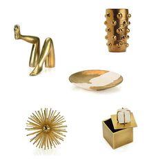 brass accessories by Kelly Wearstler