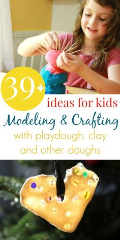 Lots of great ideas here for kids to model, sculpt, and play with playdough, clay, and other doughs!