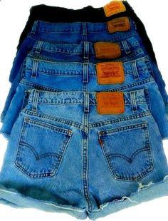 high waisted denim shorts by kandiskloset on etsy, $10.00. you choose size and LENGTH.