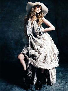 Abbey Lee Kershaw | Alexi Lubomirski #photography |  Vogue Germany | #bohemian #boho #hippie #gypsy
