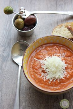 Slow cooker tomato basil soup.