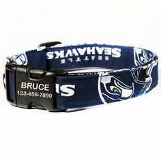 NFL Dog Collars with personalized buckles - Choose from 15 of the #NFL's top teams! www.dogids.com