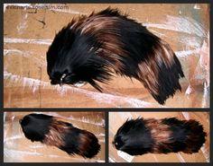 Brown & Black Striped Yarn Tail  $36.00  EvlonArts