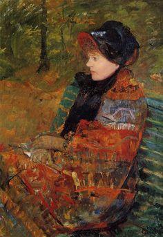 Mary Cassatt (1844-1926), Autumn, Oil on canvas, 1880