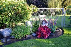 Funky Junk Interiors: How to edge flower beds like a pro