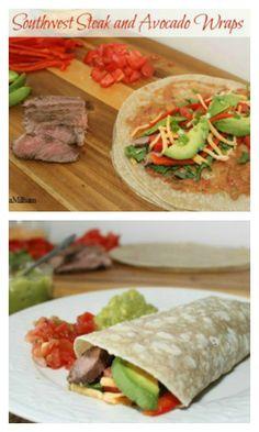 Southwest Steak & Avocado Wraps | 5DollarDinners.com