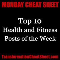 Monday Cheat Sheet: Top 10 Health and Fitness Posts of the Week http://transformationcheatsheet.com/monday-cheat-sheet-2012-11-12/
