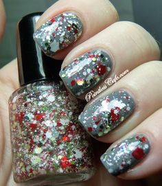 Jindie Nails Just Elfing Around- Full Size Nail Polish: Multi shades & shapes of, holo, matalliic and matte glitters-Santa Claws Collex- .5oz/15ml. $7.75, via Etsy. I ordered this!
