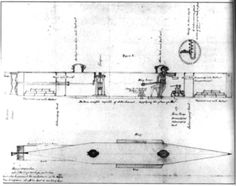 The Pioneer was the first in the series of submarines that would make way for the legendary Hunley. It was fabricated from quarter-inch plates which were bolted to an iron frame. Bolt heads were hammered into counter sinkholes which gave the sub's hull a smooth surface. Diving planes attached to either side of the sub enabled the vessel to submerge and surface, while a small propeller at the surface gave the sub its power to move.