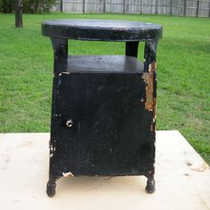 HALF PRICE Vintage Metal Step Stool Workseat Kitchen Workshop or Garage SALE. $47.50, via Etsy.