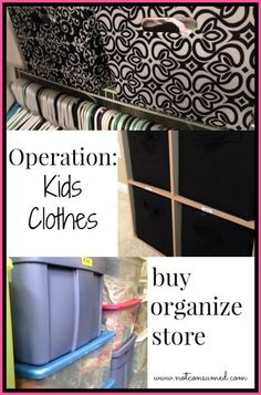 Operation kids clothes---> get them FREE (or cheap), organize them, and store them for later.