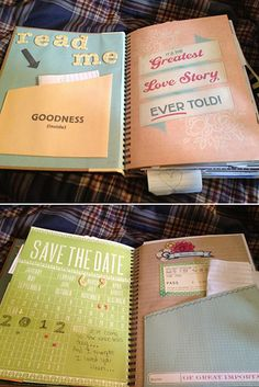 Create a book of letters that your fiancé can read while getting ready the day this is cute