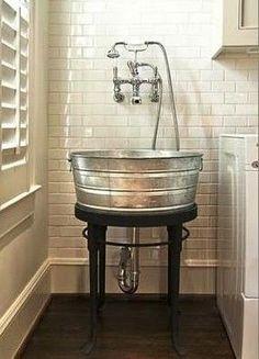 Laundry room wash basin.