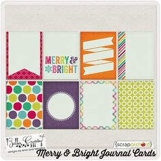 Merry & Bright Journal Cards by Bella Gypsy at Scrap Orchard