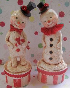 Red Snow Twins by The PolkaDot Pixie