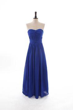 Strapless nice knotted top chiffon dress