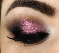 purple glitter smoky eye-love it!