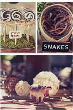 African Safari themed party with TONS of awesome and easy party ideas! via Kara's Party Ideas