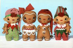 doll patterns, cloth doll, primitive patterns, christma ornament, happy heart, christmas ornaments, gingerbread christma, heart pattern, christmas gingerbread
