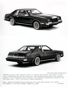 1982 Chrysler Imperial Press Release v2