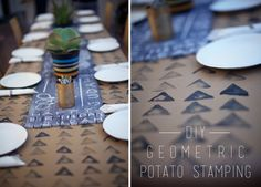 DIY Geometric Table runner
