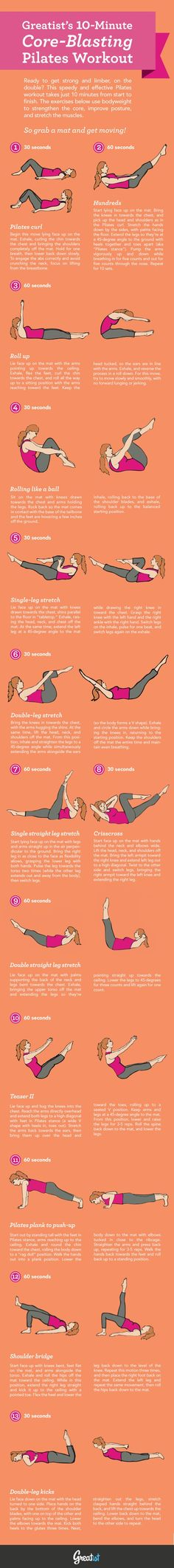 Core-Blasting Pilates Workout via @Greatist #fitness #exercise #abs