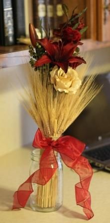 Western wedding: wheat bouquet