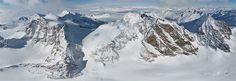 St.Moritz, Alpes suisses • 360 ° Panorama aérien !