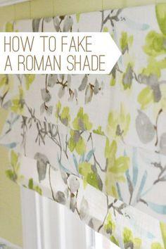 diy fake roman shade