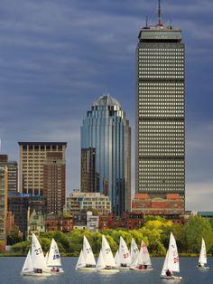 Mit Sailing Team Practicing in Charles River, Boston, Massachusetts, USA Adam Jones