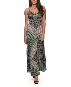 Eight Sixty Engineered Print Maxi Dress