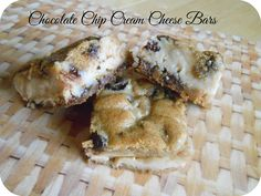 The Better Baker: Chocolate Chip Cream Cheese Bars (4 ingredients!)- YES!