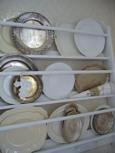 White ironstone and silver plate...what could be better?