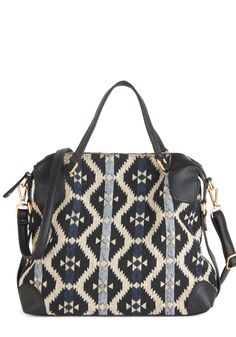 Positively Poised Bag. Slipping your arm through the handles of this geometric-printed bag, you look and feel as posh as can be! #multi #modcloth