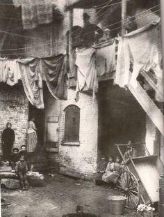 vintag, histori, york 1885, clotheslin, nyc