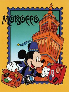 Mickey mouse Epcot postcards | Mickey in Morocco postcard