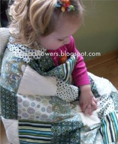The Beautiful Baby Rag Quilt is one of those quick and cuddly baby quilt ideas you can put together in just a few hours.