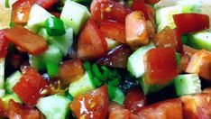 """This is my favorite salad. Simple. Delicious. And it exudes """"summer!"""""""