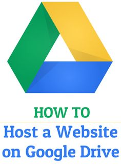 How to host a website on Google Drive