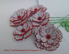 Quilling flowers made by Laura