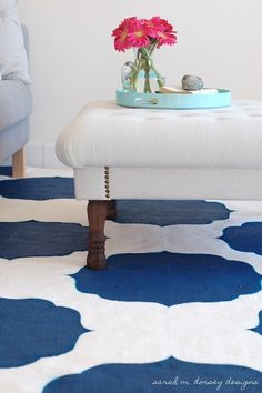 Beautiful stenciled rug