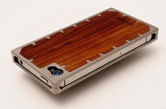 Titanium and Wood iPhone 4S Case by EXOvault