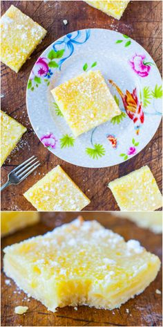 The Best Lemon Bars - Good old-fashioned lemon bars that pack a punch of big time lemon flavor, without being too tart or too sweet!