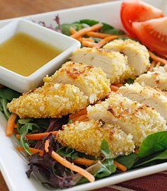 Cocunut Chicken Salad with Warm Honey Mustard Vinaigrette!!!! Delicious combination!! |skinnytaste.com