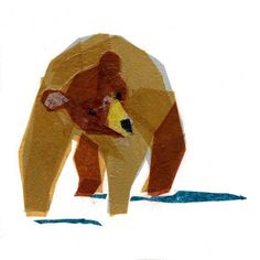 Brown bear print //