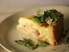 Heart healthy low carb...Deep-Dish Ham Quiche with Herb and Asparagus Salad from FoodNetwork.com