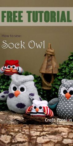 How To Sew A Sock Owl – Free #Tutorial! #cute #craft
